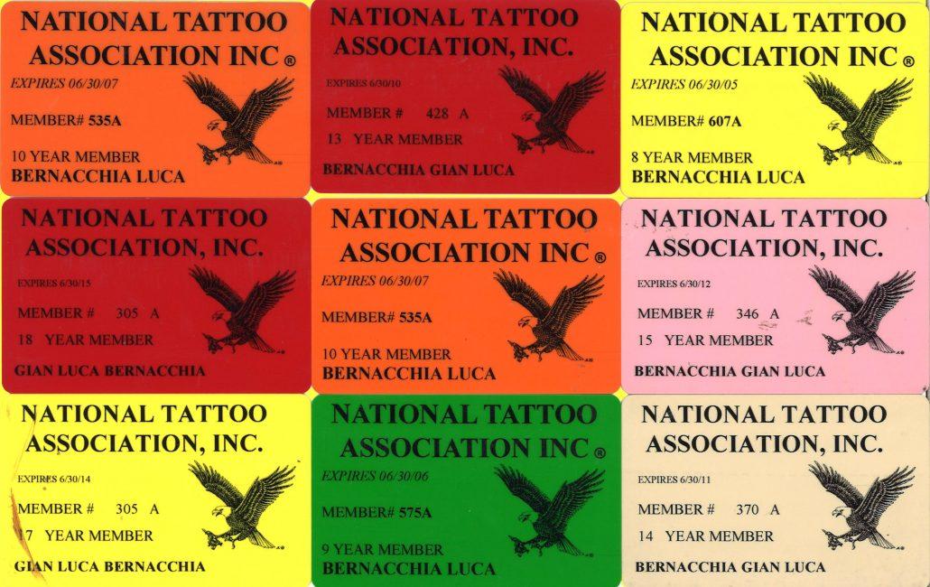 Riconoscimenti body decorators tattoo studio for Association of professional tattoo artists